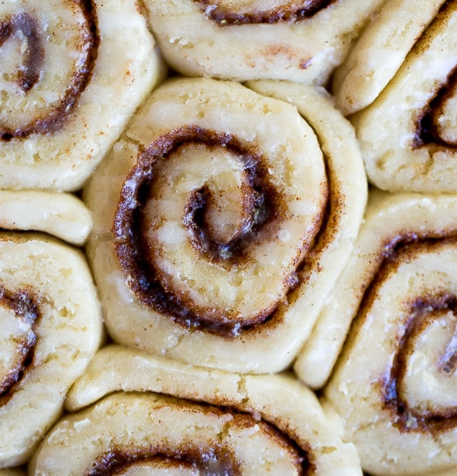 The Best Gluten Free Cinnamon Rolls!  They're easy to make, light and fluffy and so delicious!  Perfect for a family breakfast!  Vegan too!