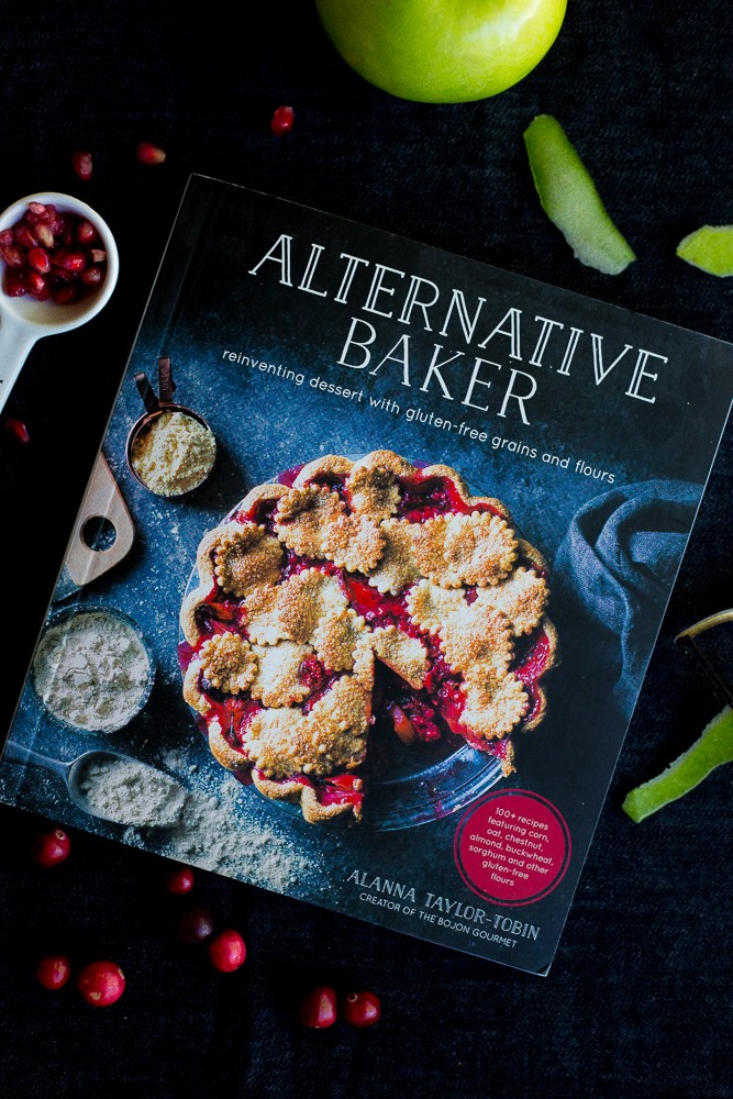 These Apple Crisps with Cranberry and Pomegranate are a delicious and easy dessert that you don't have to feel guilty about!  Their' made gluten free using Teff flour and can be made in individual sizes!  Recipe is from the Alternative Baker cookbook.