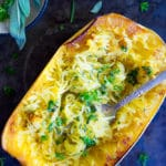 Garlic and Herb Spaghetti Squash Boats
