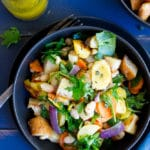 Winter Panzanella Salad with Roasted Vegetables