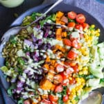 Southwestern Power Salad with Creamy Cilantro Lime Dressing