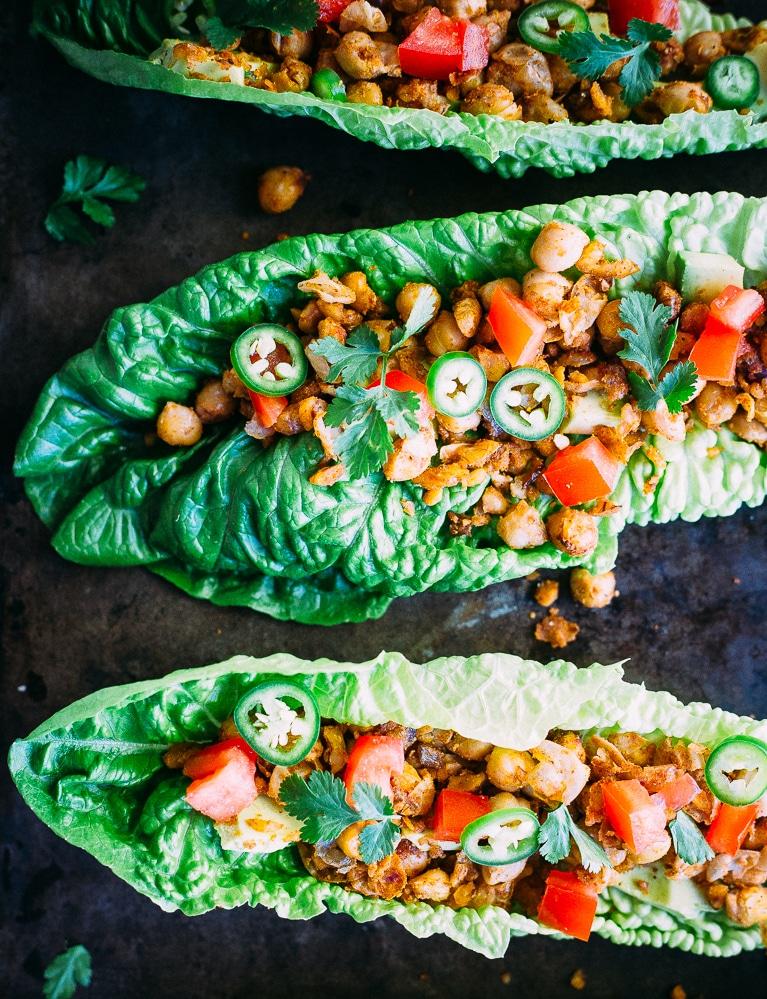 Healthy Taco Chickpea Lettuce Wraps1-8645