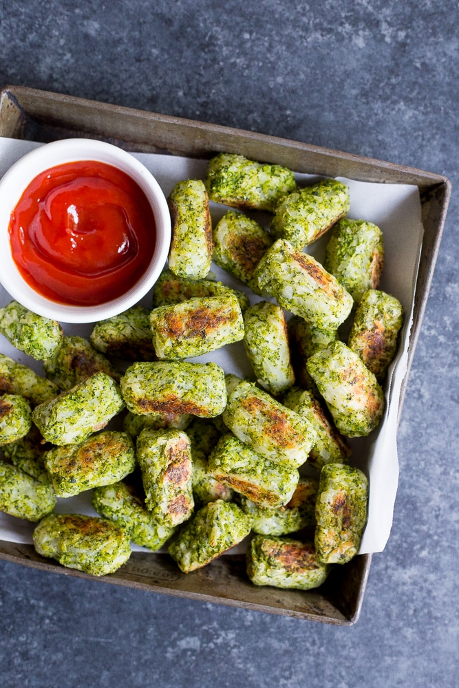 4 Ingredient Broccoli Tater Tots Recipe Video She