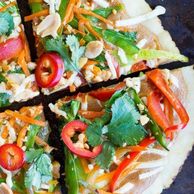 Easy Thai Vegetable Pita Pizzas