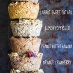 Healthy Baked Oatmeal Breakfast Cups – 6 Ways