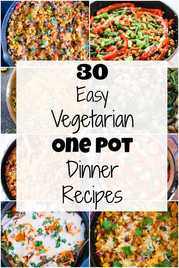 30 easy vegetarian one pot dinner recipes she likes food 30 easy vegetarian dinner recipes that are also healthy and delicious lots of vegan and forumfinder Choice Image