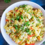 Easy One-Pot Pasta Primavera + Recipe Video