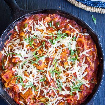 30 Minute Pizza Skillet Casserole