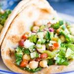 Mediteranean Chopped Salad Pitas-0407