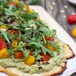 Basil-Roasted-Garlic-Ricotta-Pizza-with-Arugula-Balsamic-Reduction-8817-682x1024