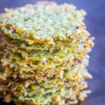 2 Ingredient Pesto Parmesan Chips