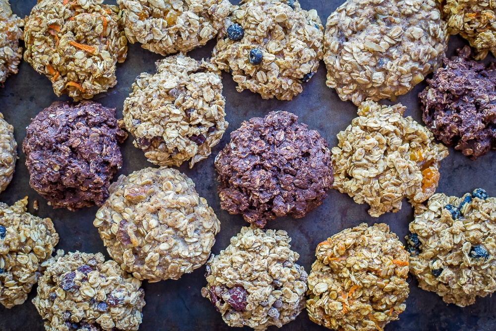 Lemon Blueberry Healthy Make Ahead Breakfast Cookies