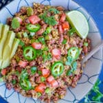 30 Minute Red Beans and Cauliflower Rice-7405