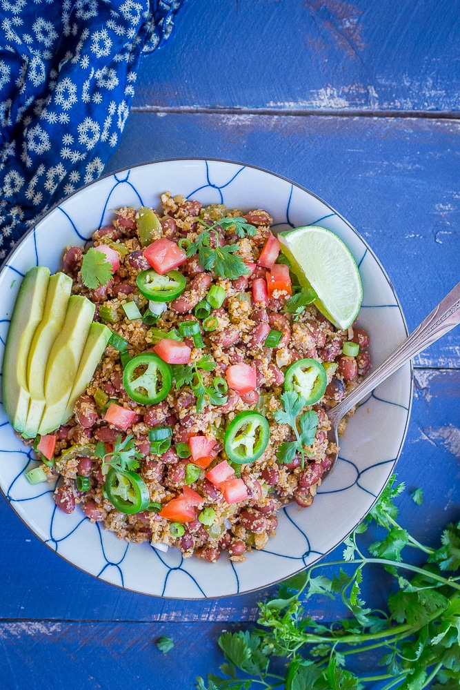 30 Minute Red Beans and Cauliflower Rice-7426