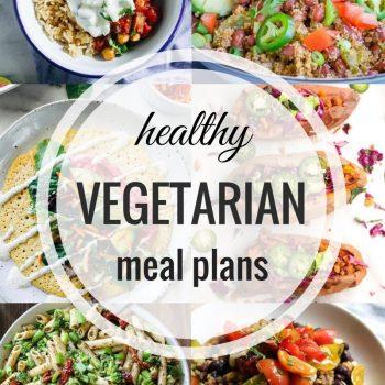 Healthy Vegetarian Meal Plan – Week 55