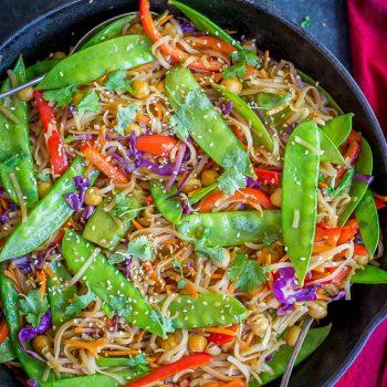 30 Minute Sesame Ginger Noodles with Vegetables