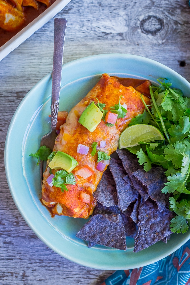 Baked Enchilada Style Veggie Burritos-8774