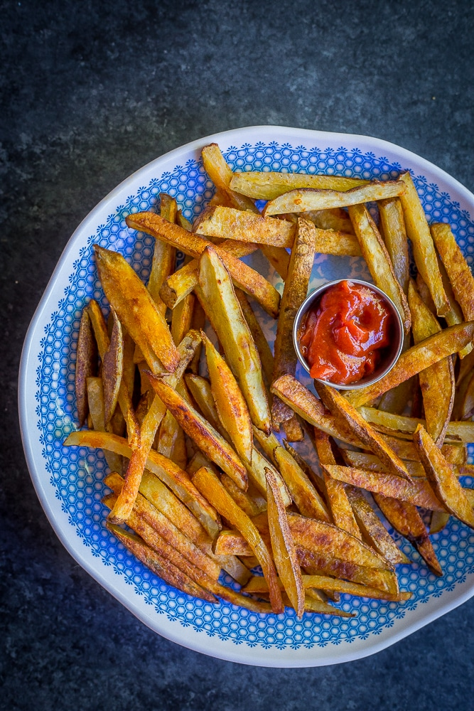 Crispy Baked Coconut Oil French Fries with Red Thai Curry Ketchup-8724