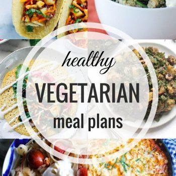 Healthy Vegetarian Meal Plan – Week 58