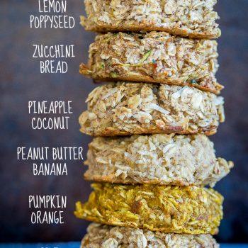 Healthy Naturally Sweetened Breakfast Cookies – 6 Ways