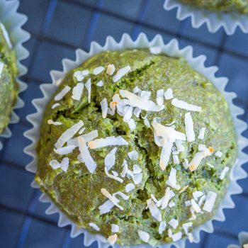Healthy Coconut Kale Green Muffins {vegan} + Recipe Video