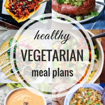 Healthy Vegetarian Meal Plan – Week 64