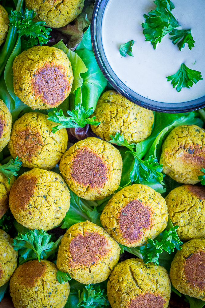 These Roasted Butternut Squash Falafel Bites are a healthy and delicious fall appetizer that everyone will love! They're gluten free, vegan and refined sugar free!