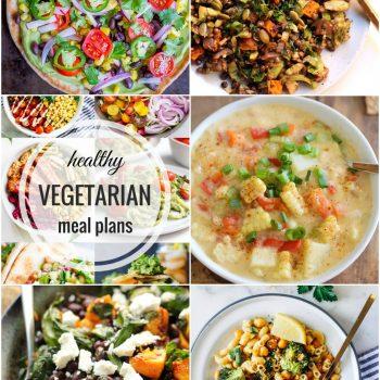 Healthy Vegetarian Meal Plan – Week 62