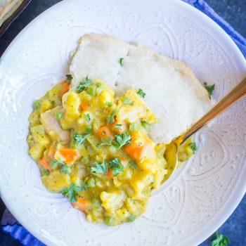Curried Vegetable Pot Pie {Vegan}