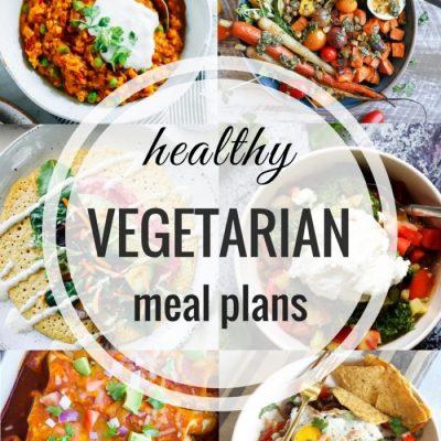 Healthy Vegetarian Meal Plan – Week 65
