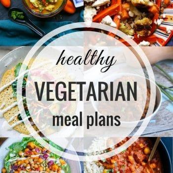 Healthy Vegetarian Meal Plan – Week 72