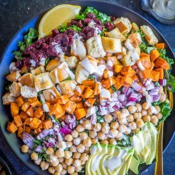 Loaded Kale Caesar Salad