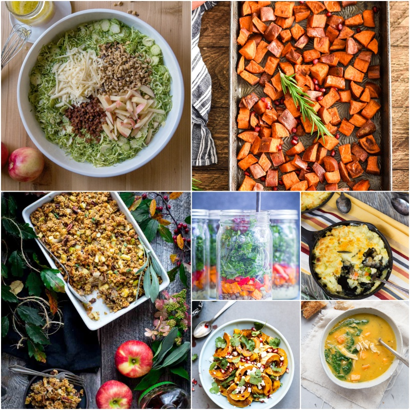 Lentil, Sweet Potato and Kale Meal Prep Salads with Curry Tahini Dressing - These delicious, healthy and filling salads are easy to make and great to have on hand for lunch all week long! Gluten Free, Vegan, Vegetarian, Meal Prep