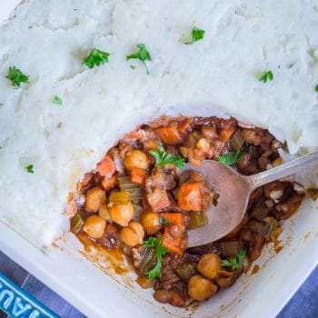 BBQ Shepherds Pie with Chickpeas and Lentils