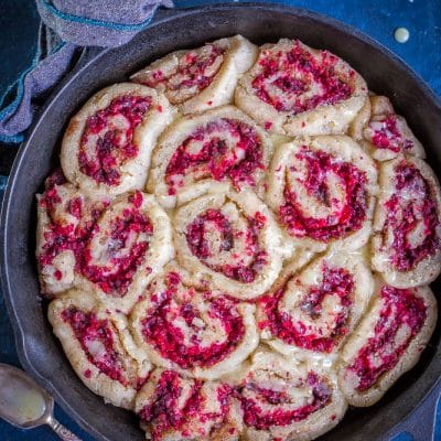 Gluten Free Orange Cranberry Cinnamon Rolls {Vegan}
