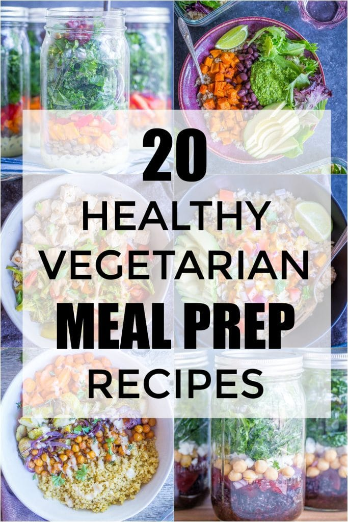 I've rounded up my favorite 20 Healthy Vegetarian Meal Prep Recipes! There's a mix of breakfast and lunch recipes that will help make your life so much easier! Most are vegan and gluten free too!