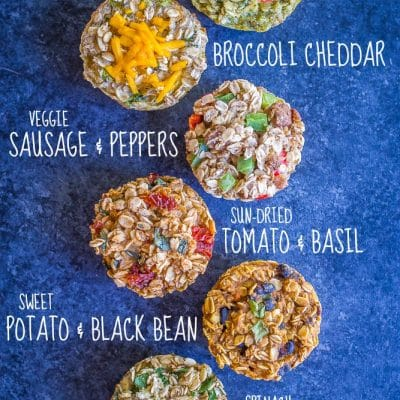 Make Ahead Savory Baked Oatmeal Cups – 6 Ways {Vegan, Gluten Free}