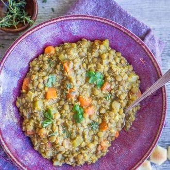 Curried Lentil Quinoa Soup