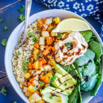Roasted Root Vegetable Buddha Bowls