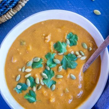 Southwestern Butternut Squash and White Bean Soup
