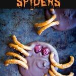 3 Ingredient Chocolate Bark Spiders Pinterest long pin