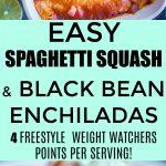 Easy Spaghetti Squash and Black Bean Enchiladas Pinterest long pin