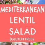 Mediterranean Lentil Salad Pinterest long pin