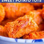 1-Ingredient Sweet Potato Tots Pinterest short pin