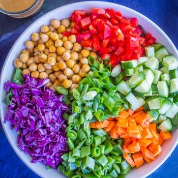 Asian Chickpea Chopped Salad