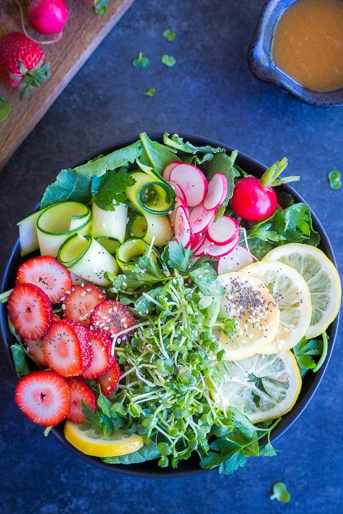 Honey-Miso Summer Salad Bowls