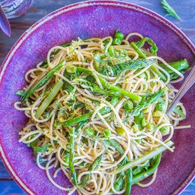 Spring Vegetable Pasta with Lemon and Dill