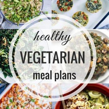 Healthy Vegetarian Meal Plan – Week 96