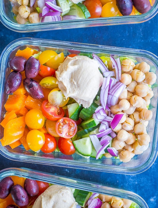 Easy Greek Salad Meal Prep Bowls