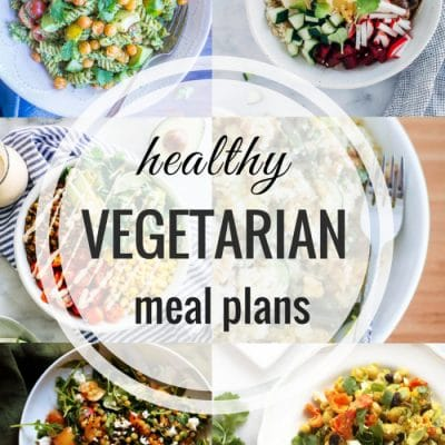 Healthy Vegetarian Meal Plan – Week 107